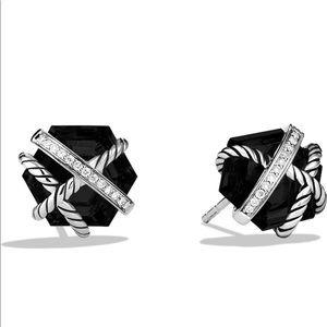 David Yurman Onyx Cable Wrap Earrings